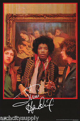 Poster : Music : Jimi Hendrix - Amsterdam Hotel   Free Shipping ! #3529  Rp90 F