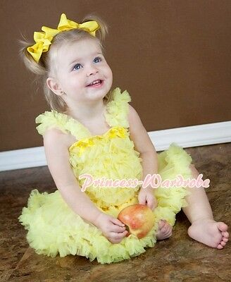 Yellow Pettiskirt Skirt Tutu Yellow Ruffles top Set For Newborn Baby 3-12Month