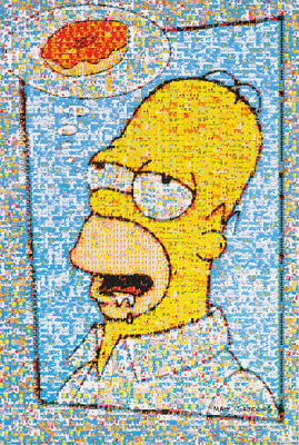 Poster - Tv - Homer Simpson Mosaic -   Free Shipping ! #126036 Rc16 H
