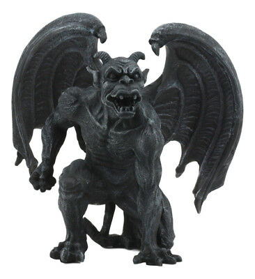 "Short Horned Gargoyle Statue Figurine Home Decor Grotesque 6.5"" Tall Guardian"