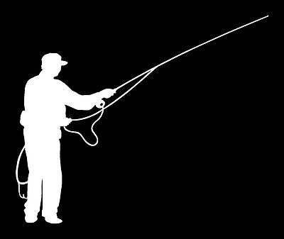 Fly Fisherman Vinyl Fishing Decal 2679