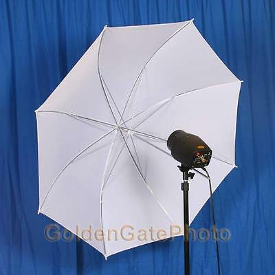 "Lot Of 2: New 43"" Shoot-Through Soft White Umbrellas"