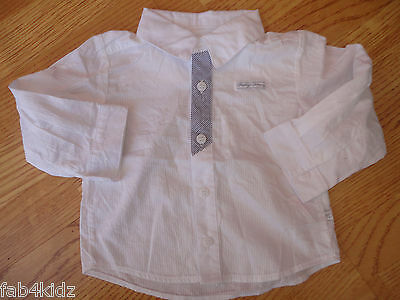 BNWOT Mothercare Humphreys Corner smart white boys shirt newborn 0 3 6 9 12 mth