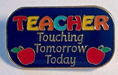 """TEACHER Touching Tomorrow Today"" Enamel Lapel Pins, Lot of 25 All New Line!"