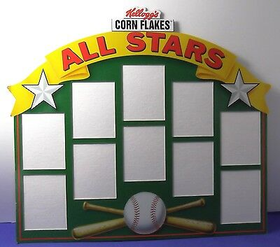 1992 Kelloggs Corn Flakes All Stars Card Stand With 1 Pkg Of Holographic Cards
