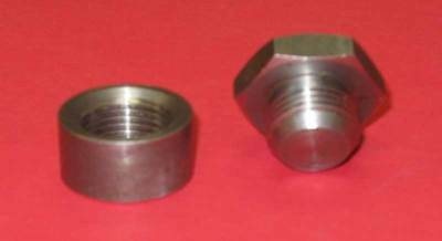 Mild Steel GENUINE Innovate 3735 Bung//Plug Kit 1//2 inch