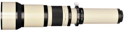 BOWER 650-1300mm Preset Telephoto Lens with 2x (up to 2600mm total) for CANON