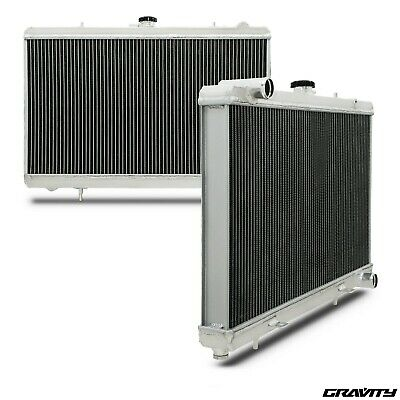 50mm ALLOY TWIN CORE RACE RADIATOR RAD FOR NISSAN 180sx S13 SR20DET 2.0 91-94