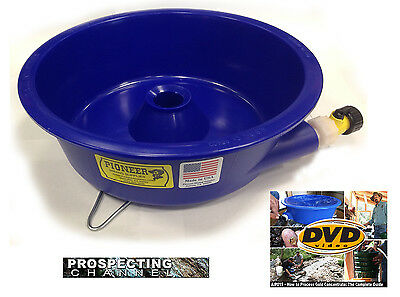 BLUE BOWL PAN GOLD Prospecting CONCENTRATOR + How 2 DVD