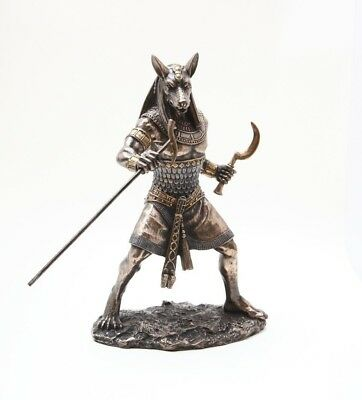 Lord of Storm Desert Chaos Egyptian God Set Statue Seth Figurine Bronze Patina