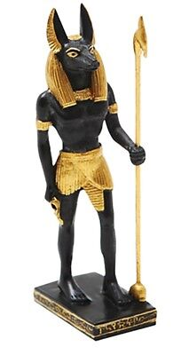 Miniature Egyptian God of Mummification Anubis Small Statue Collectible Figurine