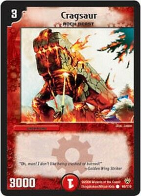 Duel Master TGC Cragsaur DM10 Shockwaves of the Shattered Rainbow