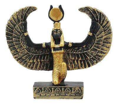 Miniature Egyptian God Isis Small Statue Collectible Mother of Horus Figurine