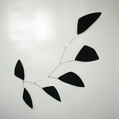 Abstract Modern Tribute Black Hanging Mobile Painted Steel New Free Shipping