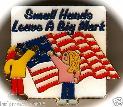 """""""Small Hands Leave A Big Mark"""" Enamel Lapel Pins/Lot of 25/All New Line!"""
