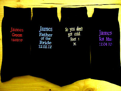 Personalised Mens Wedding day gift Socks Groom Best Man Father Brother Grandad