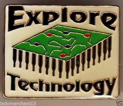 """Explore Technology"" Computer Enamel Lapel Pins/Wholesale Lot of 25/All New!"