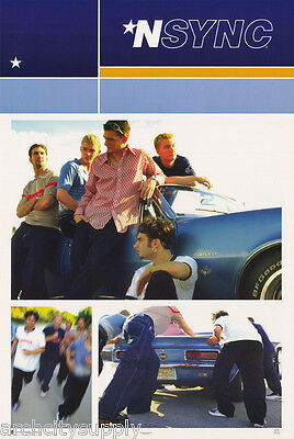 Poster - Music - N Sync - Collage With Blue Camaro  - Free Ship #7504 Rw5 O