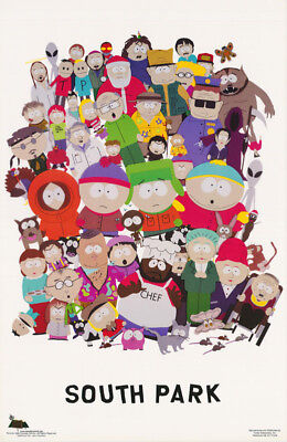 Poster : Tv Series : South Park - Cast Of Characters Free Shipping ! #3425 Rw6 S