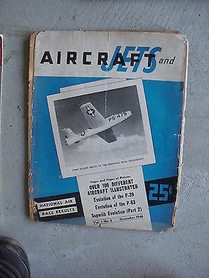 Vintage December 1946 Aircrafts and Jets Magazine Issue #2