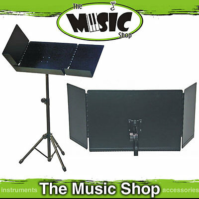 New AMS / Xtreme Heavy Duty Deluxe Conductors Music Stand - Fold Out Leaves