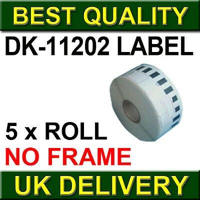 5 ROLL OF DK11202 DK 11202 BROTHER COMPATIBLE ADDRESS LABELS 62mm x 100mm
