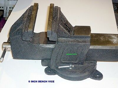 Bench Vice 6 Inch Swivel Base And Anvil- New