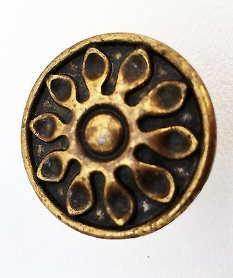 "Antique Hardware Modern antique brass drawer pull ""Sunflower""..cabinet knob"