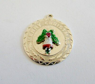 Sterling Silver Large Merry Christmas Charm