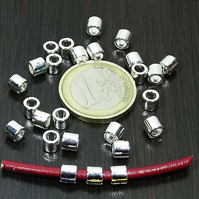 125 Tubos Lisos 5x4mm  T311 - T582 Plata Tibetano Spacer Beads Perline Perles