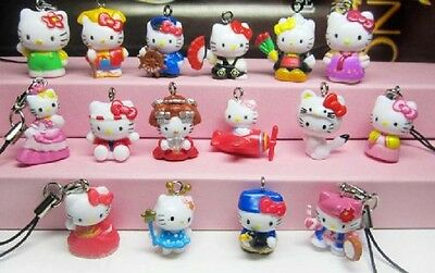 Wholesale 100PCS lovely Hellokitty Cell Mobile Phone &bag charms straps