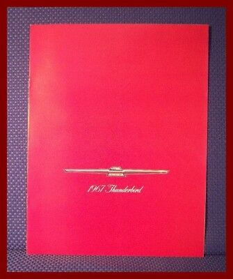 1967 Ford THUNDERBIRD Only Color Sales Brochure - ORIGINAL New Old Stock