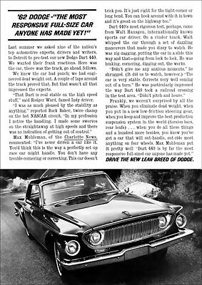 Dodge 64 Ramchargers Super Stock Retro A3 Poster Print From Advert 1964
