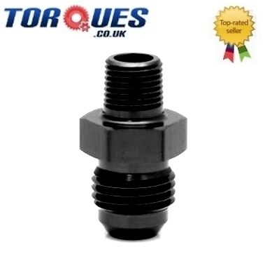 "AN -10 (AN10 AN 10) to 3/8"" NPT Straight Adapter Black"