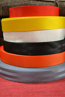 "2"" / 50mm Nylon Webbing/Strapping - 1, 5 or 10 metre lengths - Various Colours"