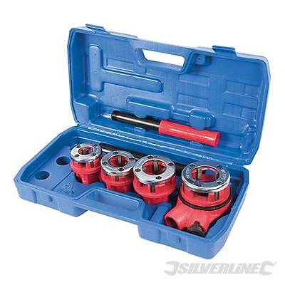 Plumbers Pipe Threading Kit 13 19 25 & 32 mm Die Sizes Iron Pipes