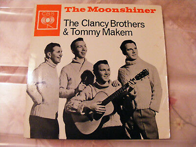 "Clancy  Brothers  &  Tommy Makem  The Moonshiner  1961 7""  Vinyl  EP  AAG 320045"