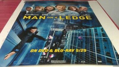MAN ON A LEDGE DVD MOVIE POSTER 1 Sided ORIGINAL 27x40 ELIZABETH BANKS