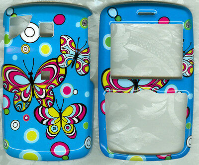 BUTTERFLY BLUE FACEPLATE PHONE COVER SNAP ON CASE PANTECH REVEAL C790 AT&T
