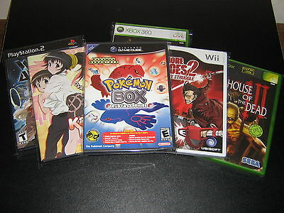 100 Resealable Protective Bags PS2 DVD Wii Gamecube Xbox New Protectors