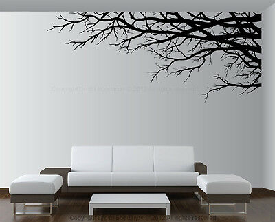 Vinyl Wall Art Decor Tree Top Branches Sticker choose size color direction 1201