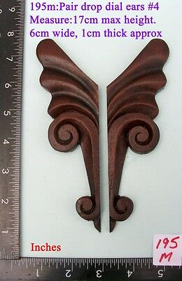 "195M ""Pair Replacement Ears"" pattern #4 clock case / furniture DIY"