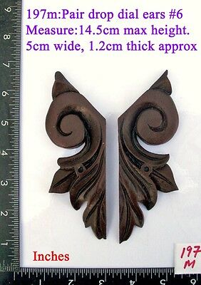 "197M ""Pair Replacement Ears"" pattern #6 clock case / furniture DIY"
