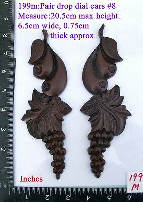 "199M ""Pair Replacement Ears"" pattern #8 clock case / furniture DIY"