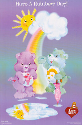 Poster : Children's : Care Bears - Have A Rainbow Day - Free Ship #3342  Rc22 N