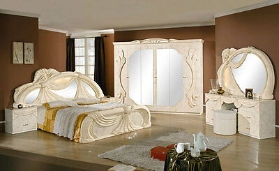 komplett luxus schlafzimmer klassische italienische m bel hochglanz topseller. Black Bedroom Furniture Sets. Home Design Ideas