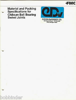 Fmc Material & Packing Specs Catalog With Asbestos For Chiksan Swivel Joints