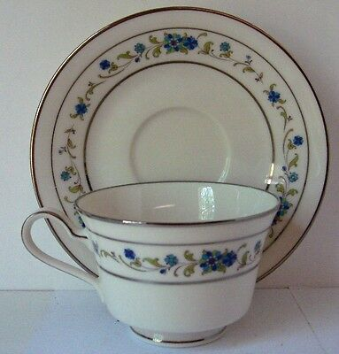"Noritake NORMA (7016) 2 1/2"" Tea Cup with Saucer Set (s) BEST!  **Free Ship**"