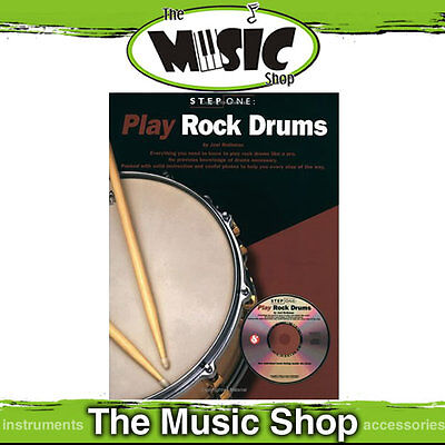Step One Play Rock Drums - Rock Drumming Tuition Book & CD Package - Learn Drums
