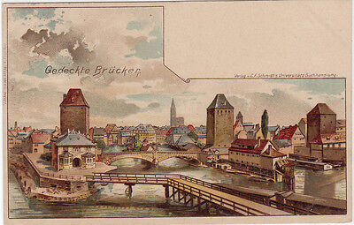 CPA -67-  STRASBOURG - Le Pont Couvert.